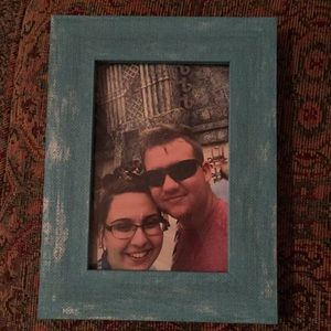 4x6 inches aqua picture frame